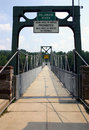 Footbridge - Delaware River Royalty Free Stock Photography