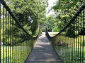 Footbridge in an estate Denmark Royalty Free Stock Photography