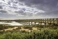 Footbridge heading to Quinta do Lago beach, in Ria Formosa. Algarve Royalty Free Stock Photo