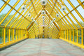 Footbridge indoor perspective Royalty Free Stock Images