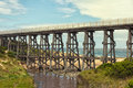 Footbridge at kilcunda scenic view of the beach in victoria australia Stock Image