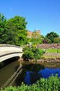 Footbridge over River Anker, Tamworth. Royalty Free Stock Photo