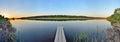 Footbridge at a river vinnytsia ukraine Royalty Free Stock Photography