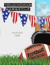 Football BBQ Barbeciue Party Invitation Announcement Flyer Royalty Free Stock Photo