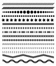 Footer lines set, page dividers design vector