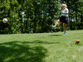 Footgolf Tee Off Royalty Free Stock Photo