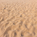 Footmarks on sand and sand texture Royalty Free Stock Photo