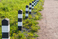 Footpath decorative fence Royalty Free Stock Photo