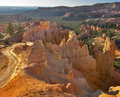 Footpath in orange mountains the well known rocks bryce canyon state of utah usa Royalty Free Stock Photography