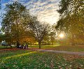 Footpath in park Royalty Free Stock Photography