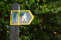 Footpath Sign Royalty Free Stock Images