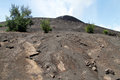 Footpath on the slope of volcano krakatau in indonesia Stock Image
