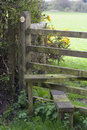 Footpath and stile, UK Stock Image