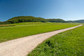Footpath in the swabien jura germany Stock Photography