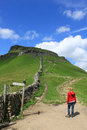 Footpath to Pen-y-ghent, North Yorkshire Royalty Free Stock Image