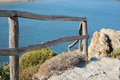 Footpath to the sea fencing and running отменить изменения Royalty Free Stock Images