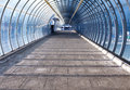 Footpath and tunnel made of glass Stock Photography