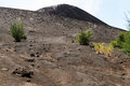 Footpath on the volcano krakatau in indonesia Royalty Free Stock Photos