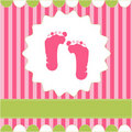 Footprint of girl Royalty Free Stock Images