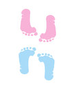 Footprint of girl and boy Stock Image