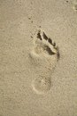 Footprint on sand, abstract background Royalty Free Stock Photo