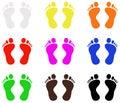 Footprint silhouette