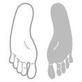Footprint template