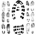 Footprint traces collection 2 Stock Image