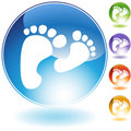Footprint Walking Crystal Icon Royalty Free Stock Photo