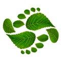 Footprint ying jang sign