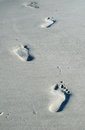 Footprints on the Beach Royalty Free Stock Photo