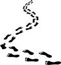 Footprints receding clip art illustration Royalty Free Stock Images
