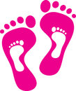 Footprints vector illustration of mother and child Stock Image