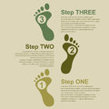 Footstep infographic template for presentation with human footsteps eps illustration Stock Photos