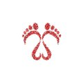 Footsteps logo icon
