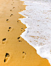 Footsteps in Sand Royalty Free Stock Photo