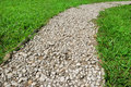 Footway in garden Royalty Free Stock Photo