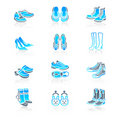 Footwear icons | MARINE series Royalty Free Stock Image