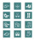Footwear icons | TEAL series Stock Photo