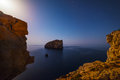 Foradada island on a starry night
