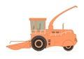 Forage harvester isolated on white background eps opacity Royalty Free Stock Images