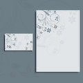 Foral letterhead and business card layout Royalty Free Stock Photography