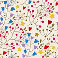 Foral seamless pattern in vector Royalty Free Stock Photo