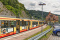 Forbach germany june railway station in the town of forbach germany black forest Stock Photos