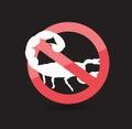 Forbid Scorpion Symbol Royalty Free Stock Photo