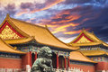 The forbidden city of beijing china Stock Photography