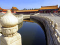 The Forbidden City in Beijing China is home to this peaceful layout, part of the Imperial Palace of China. Royalty Free Stock Photo