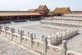 Forbidden city beijing empty square china Stock Photo