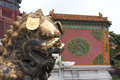 Forbidden city guard lion beijing china at the in Stock Images
