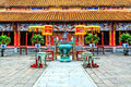The forbidden city at hue vietnam Royalty Free Stock Images